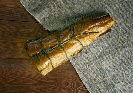 haddock: Arbroath smokie  type of smoked haddock  of Arbroath in Angus, Scotland. Stock Photo