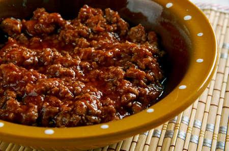 american cuisine: Texas Bowl of Red. american cuisine.