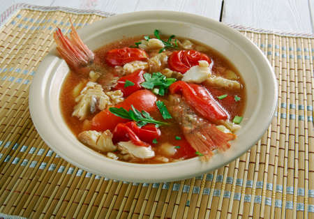 jamaican: Conch soup -  Jamaican Style,Whats Cooking America Stock Photo