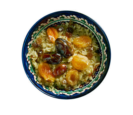 azeri: Sudlu plov Azerbaijan sweet milk pilaf Stock Photo