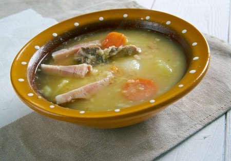 dutch: Traditional Dutch Pea Soup - Snert Stock Photo