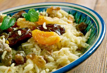 dried fruit: Parcha-doshama  - Lamb with dried fruit and nuts.Azerbaijani Pilau