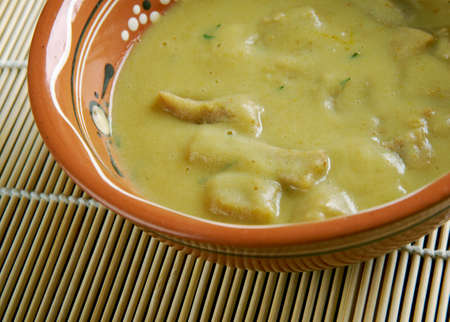 ancestral: Gachas ancestral basic dish from central and southern Spain. Stock Photo