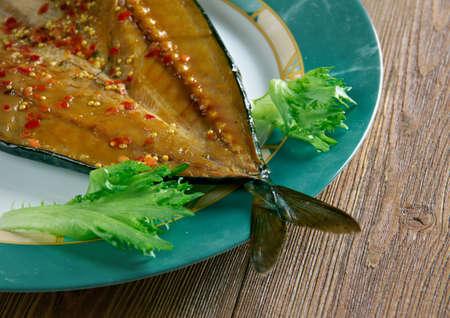 kipper: Craster kipper Deviled.smoked fish. Traditional British snack
