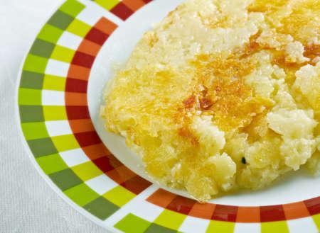 olio: Frico con patate e cipolla.Italian dish with potatoes and cheese typical of my region the Friuli Venezia Giulia