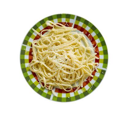 pepe: Cacio e pepe. Roman pasta dish.cheese and pepper in several central Italian languages.include only black pepper, Pecorino Romano cheese, and pasta Stock Photo