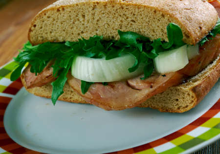 hoagie: Coupe coupe - Hickory Smoked Flank Steak Sandwiches .African cuisine
