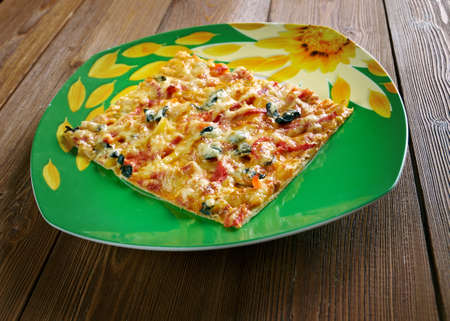 originated: Sicilian pizza is pizza prepared in a manner that originated in Sicily, Italy.  with thick-crust or deep-dish pizza.