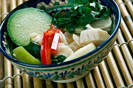 Samlar machu  - Khmer language term sour soups .Cambodian cuisine