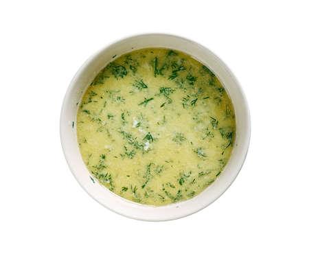 sour milk: Shechamandy -Georgian soup with sour milk