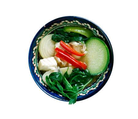 Samlar マチュピチュ - クメール語用語酸っぱいスープ。カンボジア料理 写真素材