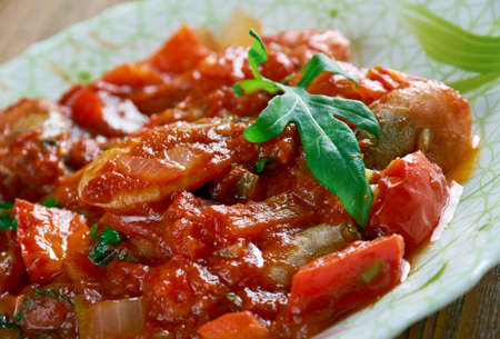 gambas: Ceviche creollo con gambas - shrimp ceviche