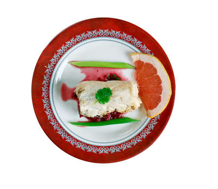 bacalao: Bacalao confitado con salsa verde - cod fish gourmet.