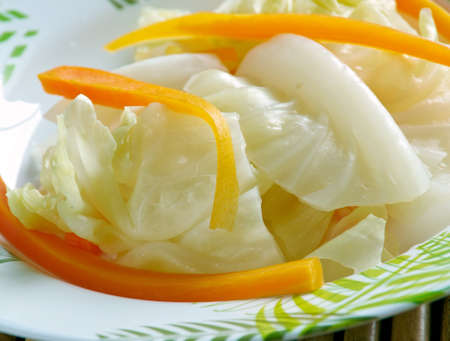 pao: Pao cai - type of pickle, usually pickled cabbage, often found in Chinese, and particularly Szechuan cuisine