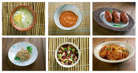 american cuisine: Food set . southern food.Latin American cuisine