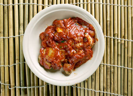 nigerian: Nigerian Chicken Stew - Tomato Based stew Stock Photo