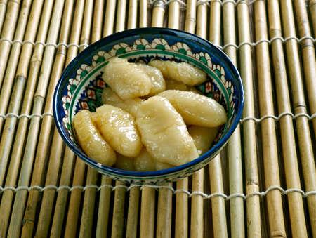 andhra: Andhra Sweet Gavvalu.Sweet Shells -  typical sweets made in Andhra Pradesh.