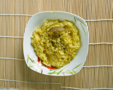 south indian: Puliyogare tamarind rice. South Indian rice preparation typically eaten as a snack