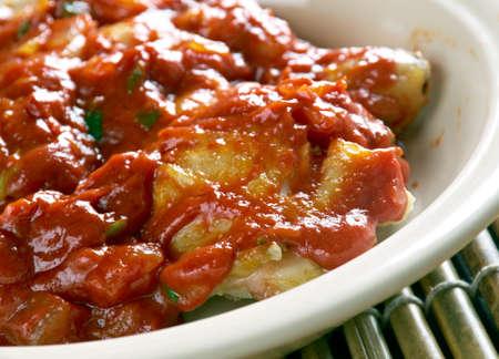stew: Nigerian Chicken Stew - Tomato Based stew Stock Photo