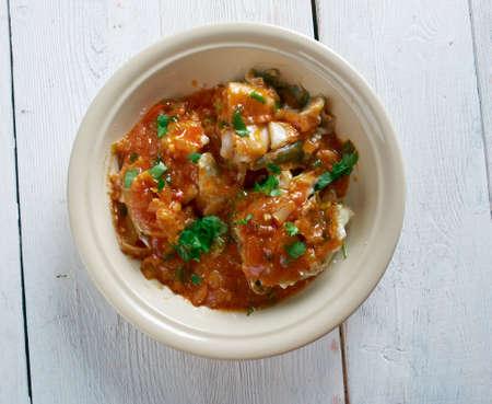 sri lankan: Malu Mirisata - spicy Sri Lankan fish curry Stock Photo