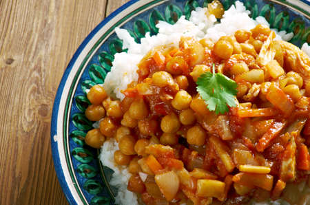 indian cookery: Oshi afgani - Afghan dish with chicken, chickpeas and carrots