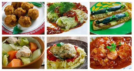 sopa: European cuisine.Food set Stock Photo