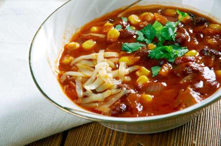 chorizo: Super Chorizo Chili  Bean  Bowls - New Mexico green chili stew.