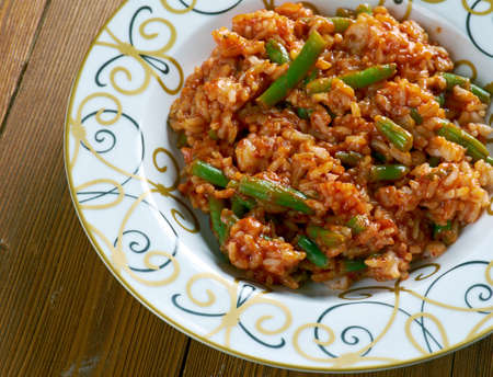 green bean: Lubia Polo - Persian Green Bean Rice