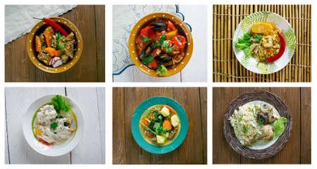 jamaican food: Food set . southern food.Latin American cuisine