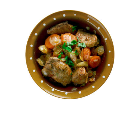 estonian: Klassikaline Ahjuliha - Estonian stew with pork and vegetables