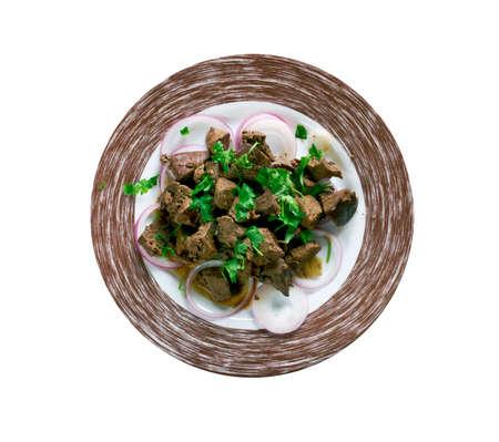 albanian: Turkish Liver in the Albanian style: Arnavut Cigeri