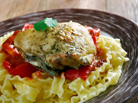 originally: Mom�s Chicken Paprika - Originally a Hungarian dish Stock Photo