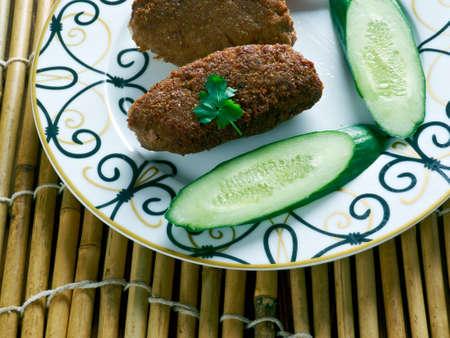 kuru: Kuru Kofte meatballs. traditional Turkish Koftes