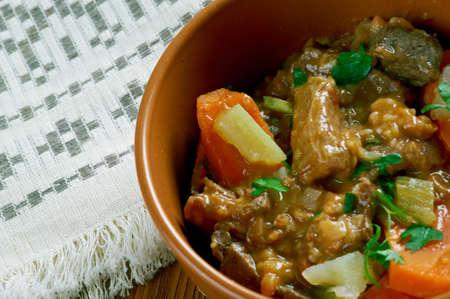 ragout: Ragout de queue de boeuf - Oxtail stew .French beef stew Stock Photo