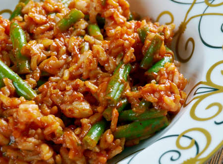 persian green: Lubia Polo - Persian Green Bean Rice
