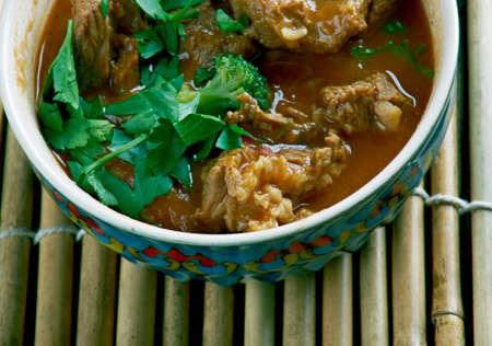 punjabi: Lahori Beef Karahi - food and cuisine of the city of Lahore in Punjab, Pakistan