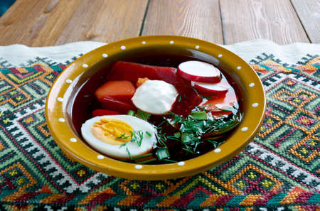 polish lithuanian: Russian Cold beet soup Smolensk chlodnik