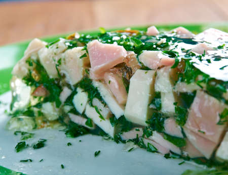 jambon: Jambon persille - traditional Easter dish in Burgundy. Stock Photo