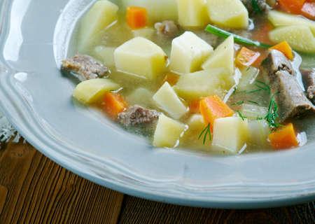 potato soup: German Potato Soup Stock Photo
