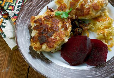 cutlets: Lithuanian chicken cutlets