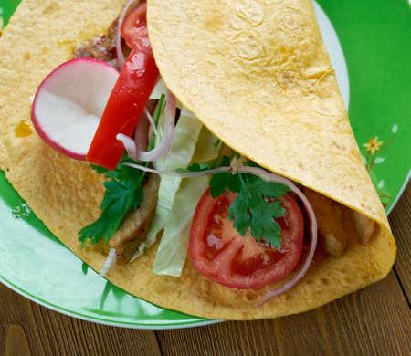 originally: Korean-Mexican fusion -  fusion cuisine originally from Los Angeles.