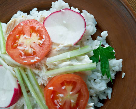 convenience: Hawaiian haystack -  convenience cuisine dish.