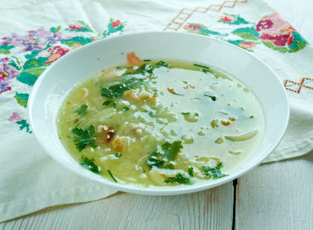 greaves: Zodelsuppe  - German Vogtland soup with potatoes and bacon