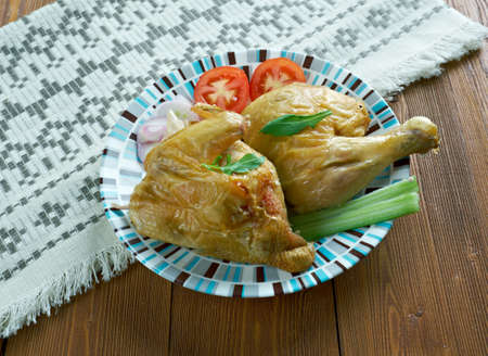 fragrant: Fragrant chicken Pollo profumato. Italian Cuisine Stock Photo