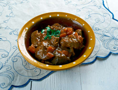 aussie: Aussie Jumbuck Stew - Australia   lamb  Dish Stock Photo