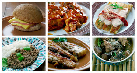 cerdo: Food set . southern food.Latin American cuisine