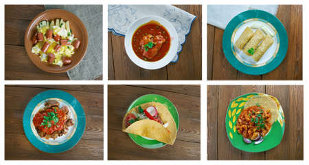 cerdo: southern food set.mexican dish