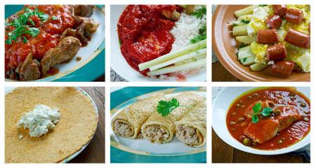 Comida sureña plato set.mexican Foto de archivo - 58618336