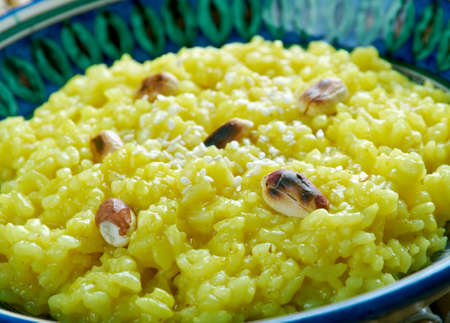 pongal: Pongal chutney - South Indian Rice and Lentils Risotto with Coconut Chutney Stock Photo
