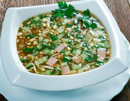 cold soup: Russian cold soup okroshka